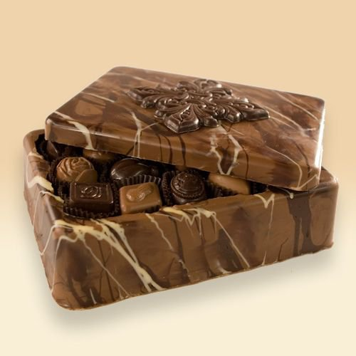 chocolate coffin with dead chocolates from zuzafun.com