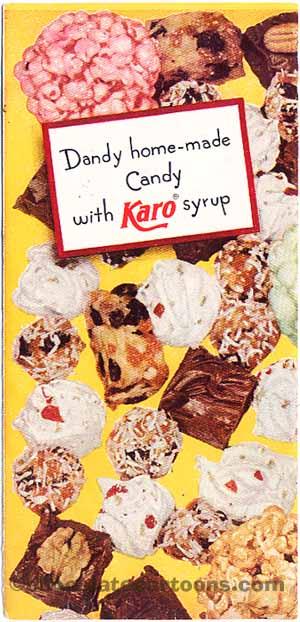 Karo syrup vintage candy pamphlet